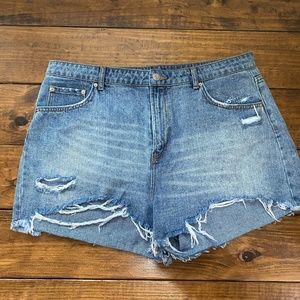 Wild Fable high-rise denim cut-off shorts